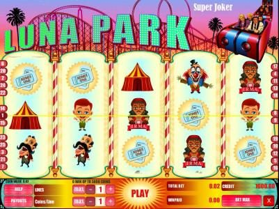 Play slots at Long Harbour: Long Harbour featuring the Video Slots Luna Park with a maximum payout of $1,000