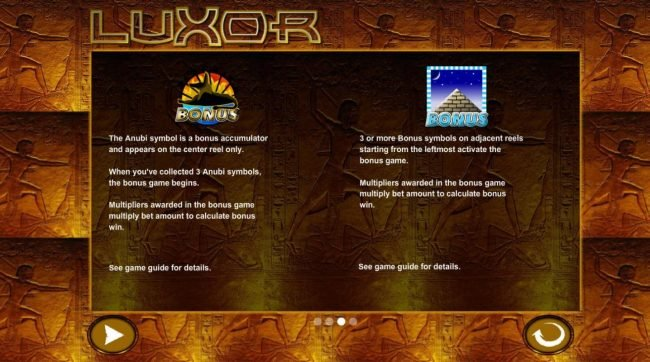 Luxor :: Bonus Game Rules