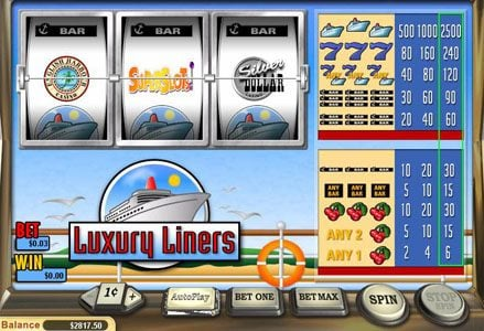 Play slots at Liberty Slots: Liberty Slots featuring the Video Slots Luxury Liners with a maximum payout of $40,000