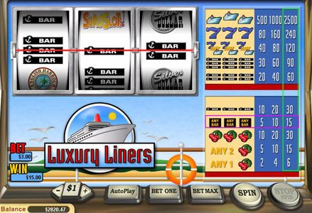 Play slots at Lincoln: Lincoln featuring the Video Slots Luxury Liners with a maximum payout of $40,000