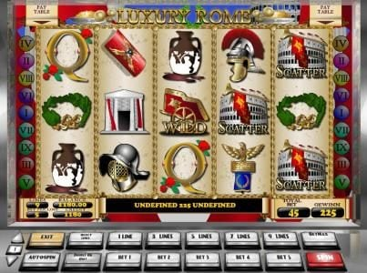 Play slots at Win British: Win British featuring the Video Slots Luxury Rome with a maximum payout of $5,000