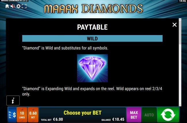 Maaax Diamonds :: Wild Symbol Rules