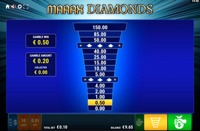 Maaax Diamonds :: Ladder Gamble Feature Game Board