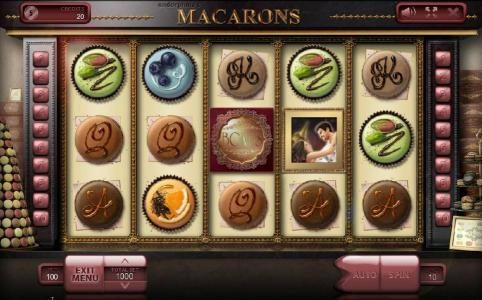 Vegas Crest featuring the Video Slots Macarons with a maximum payout of $500,000