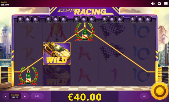 Play slots at Zet Casino: Zet Casino featuring the Video Slots Macau Racing with a maximum payout of $2,664