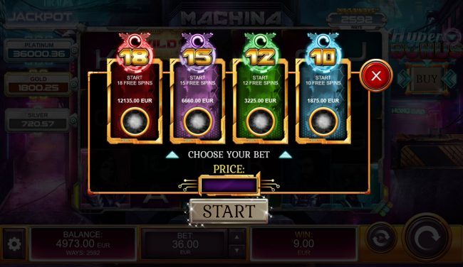 Machina 4 :: You can purchase a free spins bonus