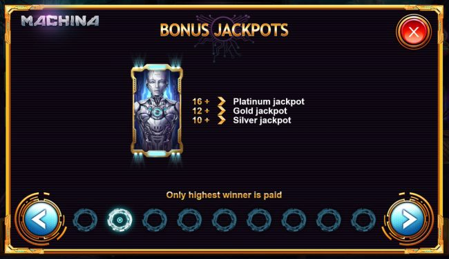 Machina 4 :: Bonus Jackpots