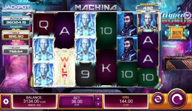 Machina 4 :: Multiple winning combinations
