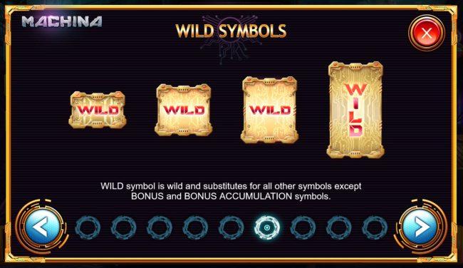 Machina 4 :: Wild Symbol Rules