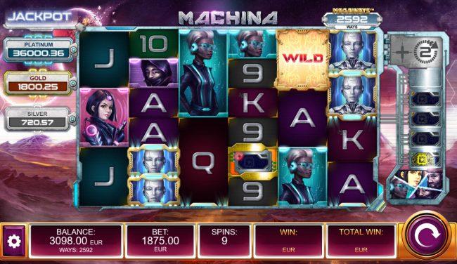 Machina 4 :: Free Spins Game Board