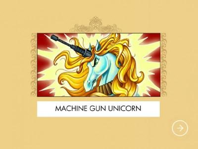 Play slots at Omnia: Omnia featuring the Video Slots Machine Gun Unicorn with a maximum payout of $2,000