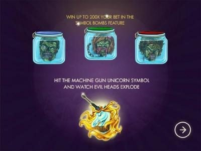 Win up to 200x your bet in the symbols bombs feature