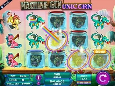 Caribic featuring the Video Slots Machine Gun Unicorn with a maximum payout of $2,000