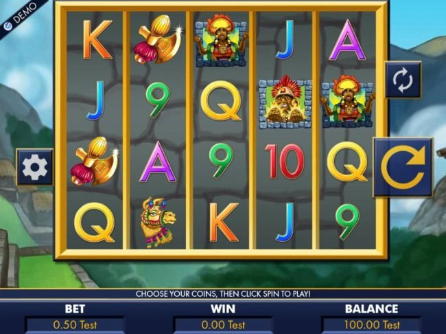 Euro Palace featuring the Video Slots Machu Picchu Gold with a maximum payout of $10