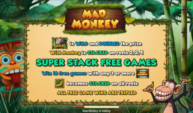 Play slots at Caesars: Caesars featuring the Video Slots Mad Monkey with a maximum payout of $62,500