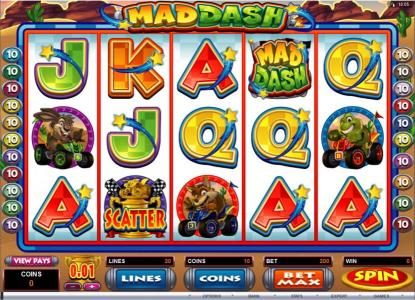 Play slots at Reel Vegas: Reel Vegas featuring the Video Slots Mad Dash with a maximum payout of $10,000