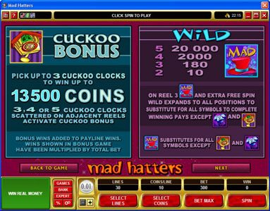 Vegas Paradice featuring the Video Slots Mad Hatters with a maximum payout of $50,000