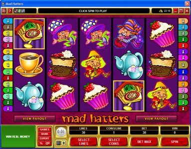 La Vida featuring the Video Slots Mad Hatters with a maximum payout of $50,000