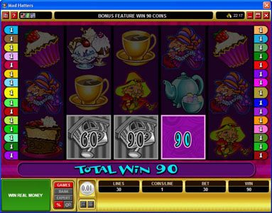 Vegas Palms featuring the Video Slots Mad Hatters with a maximum payout of $50,000