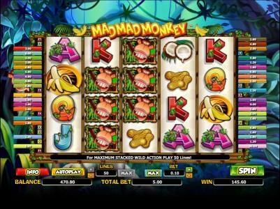 Play slots at Karamba: Karamba featuring the Video Slots Mad Mad Monkey with a maximum payout of $5,000