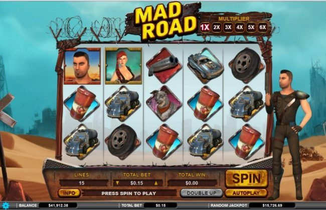 Drake featuring the Video Slots Mad Road with a maximum payout of $34,000