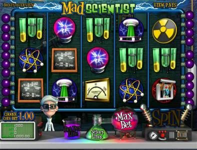 Betchain featuring the Video Slots Mad Scientist with a maximum payout of $5,000