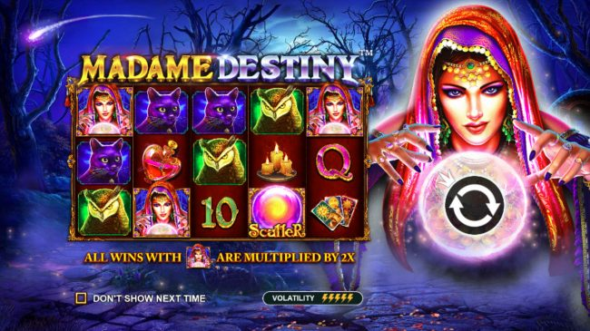 Play slots at Play Jango: Play Jango featuring the Video Slots Madame Destiny with a maximum payout of $45,000