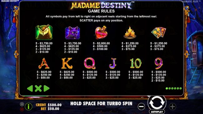 Play slots at Yoyo: Yoyo featuring the Video Slots Madame Destiny with a maximum payout of $45,000