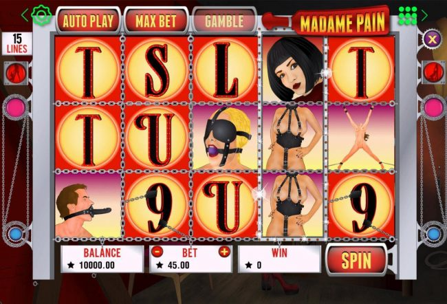 Crypto Wild featuring the Video Slots Madame Pain with a maximum payout of $4,500