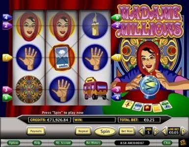 Celtic featuring the Video Slots Madame Millions with a maximum payout of $250