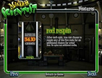 24 Vip featuring the Video Slots Madder Scientist with a maximum payout of $1,250