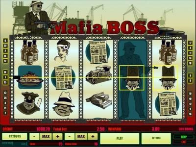 Long Harbour featuring the Video Slots Mafia Boss with a maximum payout of $500