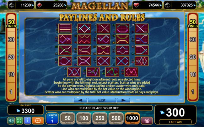 Buran featuring the Video Slots Magellan with a maximum payout of $20,000