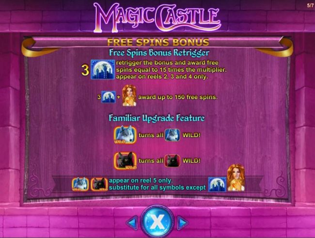 Magic Castle :: Free Spins Bonus Retrigger Rules