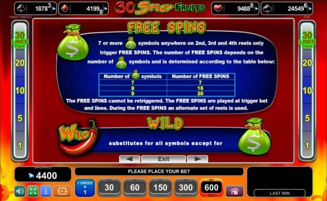 Egypt Slots featuring the Video Slots Magic Castle with a maximum payout of $250,000