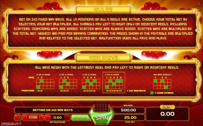Jellybean Casino featuring the Video Slots Magic Dragon with a maximum payout of $1,250
