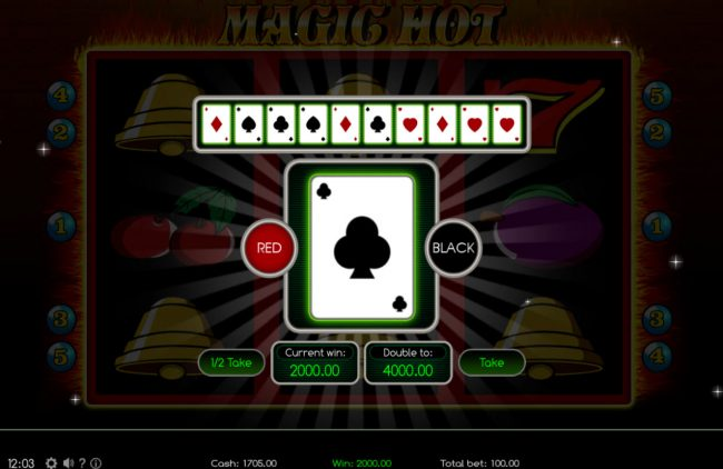 Magic Hot :: Gamble Feature Game Board
