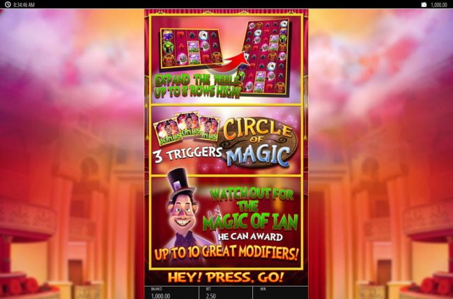 Play slots at Play Club Casino: Play Club Casino featuring the Video Slots Magic Ian with a maximum payout of $250,000