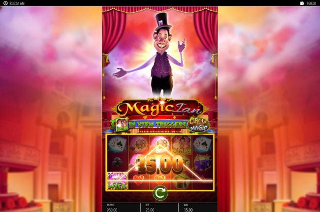 Play slots at Reel Vegas: Reel Vegas featuring the Video Slots Magic Ian with a maximum payout of $250,000