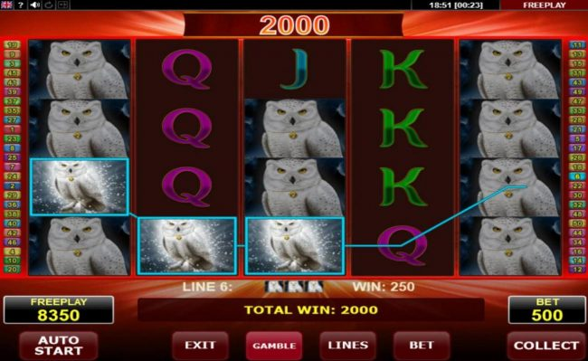 Svedala featuring the Video Slots Magic Owl with a maximum payout of $25,000