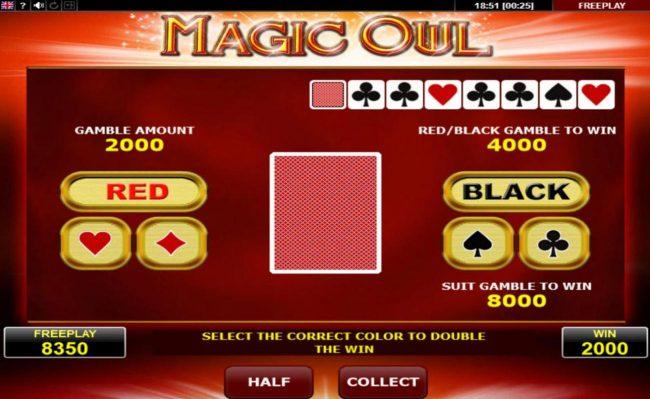 Magic Owl :: Gamble Feature Game Board