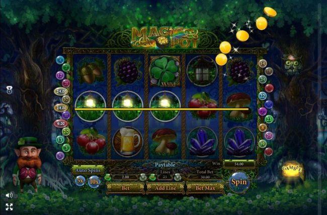 Grand Wild featuring the Video Slots Magic Pot with a maximum payout of $150,000