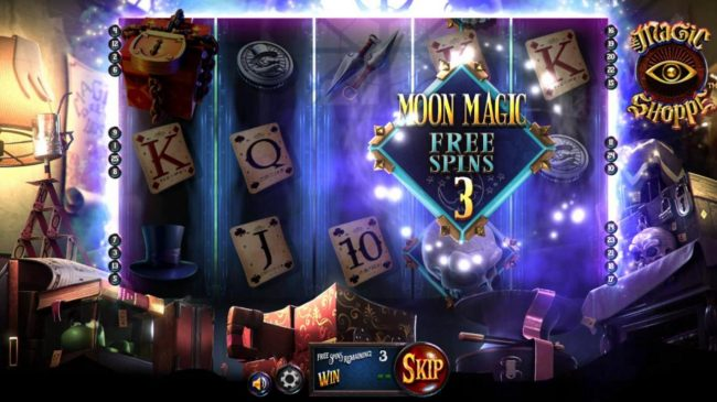 3 Moon Magic Free Spins awarded.