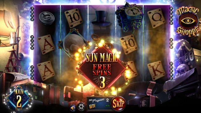 3 Sun Magic Free Spins awarded.