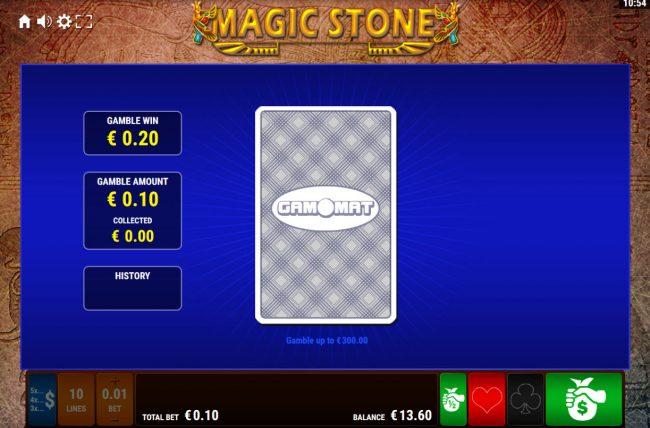 Magic Stone :: Card Gamble Feature Game Board
