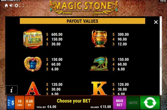 Magic Stone :: High Value Symbols