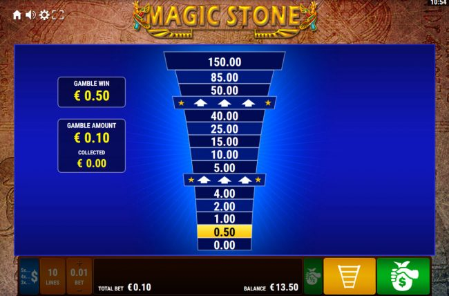 Magic Stone :: Ladder Gamble Feature Game Board