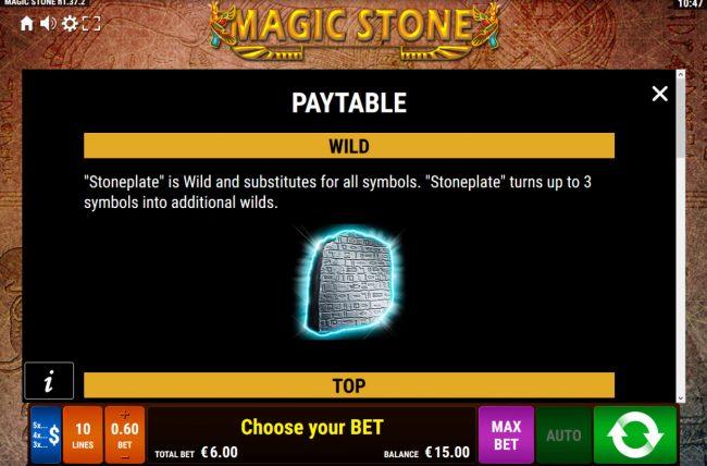 Magic Stone :: Wild Symbol Rules