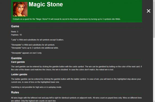 Magic Stone :: General Game Rules