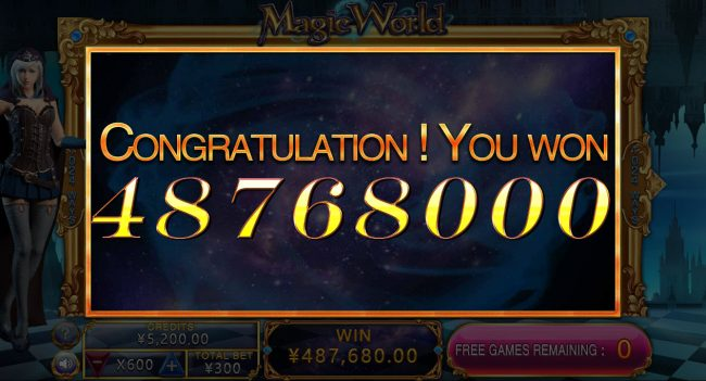 Magic World :: Total Free Spins Payout